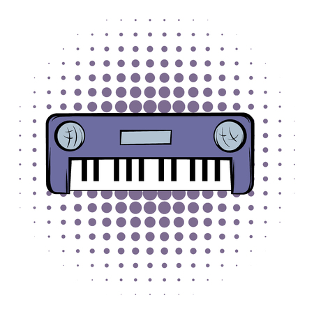 synthesizer: Synthesizer comics icon on a white background