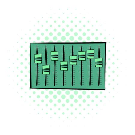 Equalizer comics pictogram op een witte achtergrond Vector Illustratie