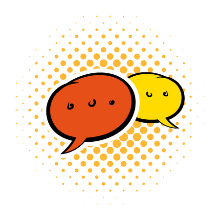 chat bubbles: Speach bubles comics icon on a white background