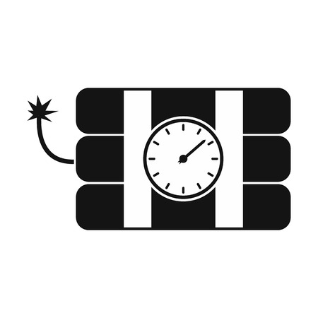 explosive watch: Bomb with clock timer black simple icon