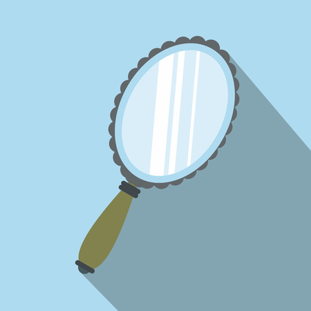 Mirror flat icon with shadow on the background
