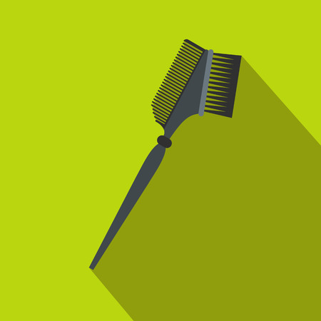 bilateral: Bilateral comb flat icon with shadow on the background