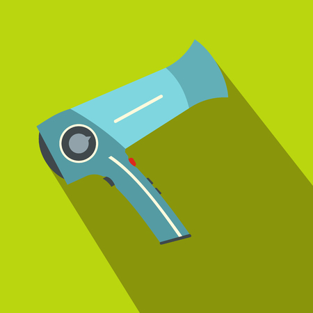 hairdo: Hairdryer flat icon with shadow on the background