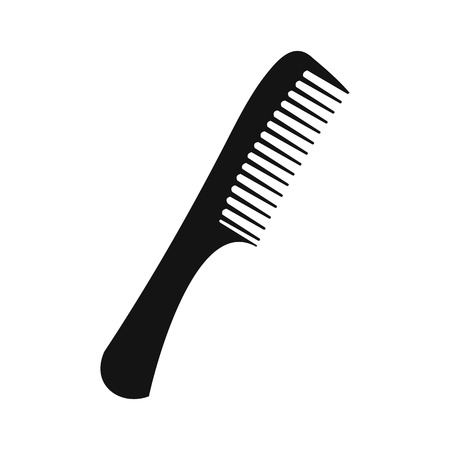 hairdo: Comb black simple icon isolated on white background