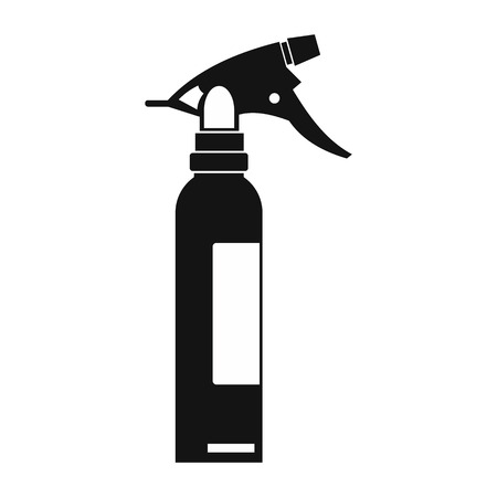 trigger: Sprayer black simple icon isolated on white background