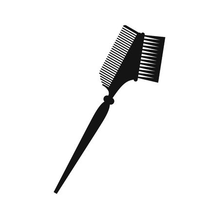bilateral: Bilateral comb black simple icon isolated on white background Illustration