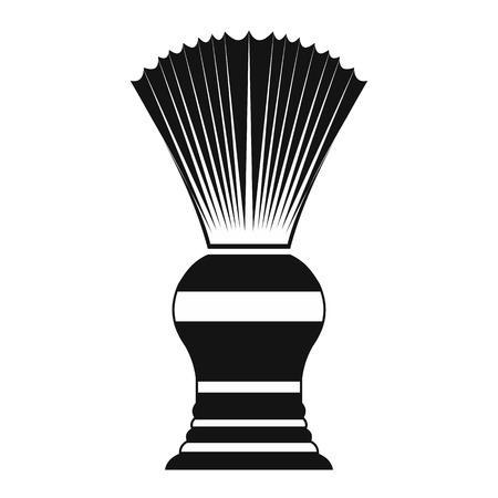 shaving brush: Shaving brush black simple icon isolated on white background Illustration
