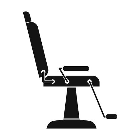 massage symbol: Armchair hairdresser black simple icon isolated on white background Illustration