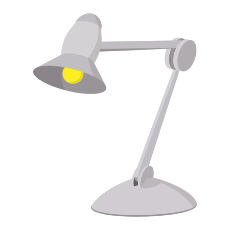 desk lamp: Desk lamp cartoon icon on a white background