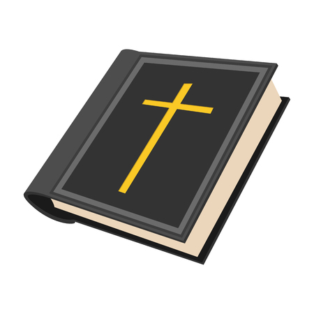 holy cross: Bible cartoon icon on a white background
