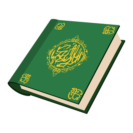 prophecy: The holy Quran cartoon icon on a white background Illustration