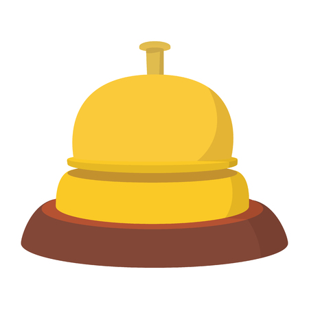 clang: Reception bell cartoon icon. Hotel symbol isolated on a white background Illustration