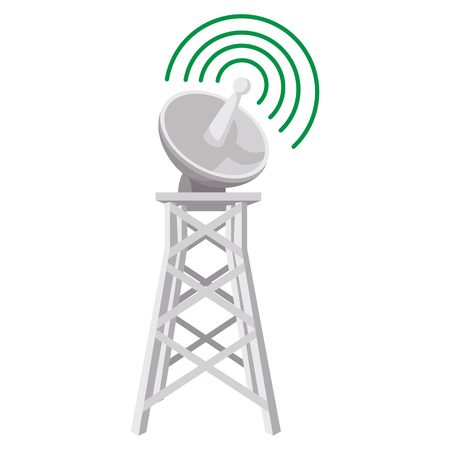 wireless connection: Wireless connection cartoon icon on a white background