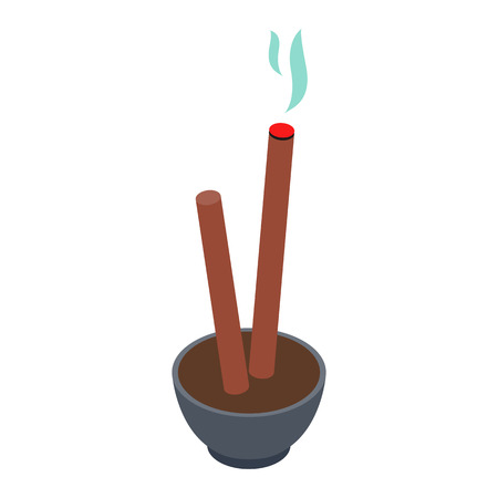 incense: Incense isometric 3d icon isolated on a white background
