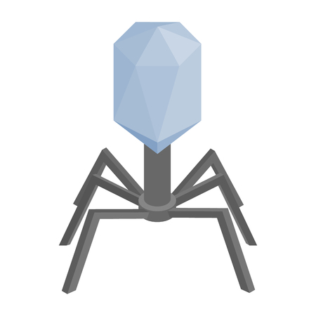 microorganism: Virus cell isometric 3d icon. Single microorganism on a white. Similar with spider Illustration