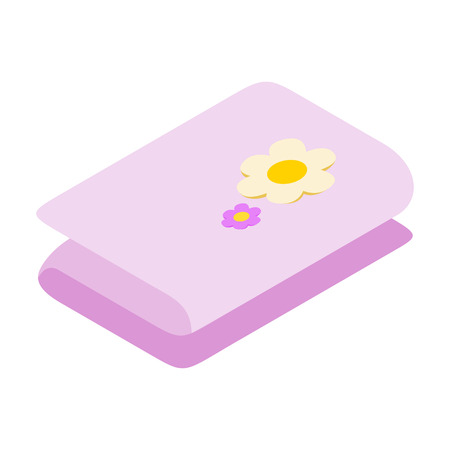 beauty therapist: Stack of towels 3d isometric icon. Concept for beauty salon, massage, cosmetic and spa