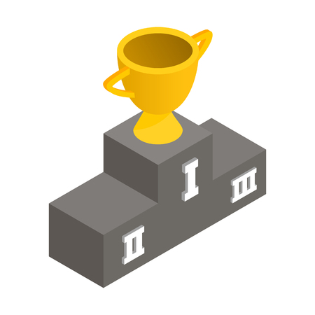 gold cup: Gold cup winner isometric 3d icon on a white background Illustration