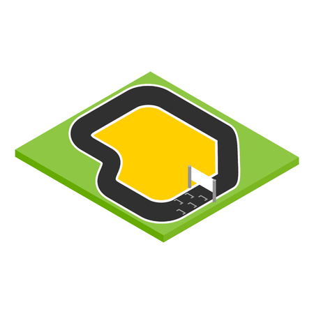 speedway: Speedway isometric 3d icon on a white background