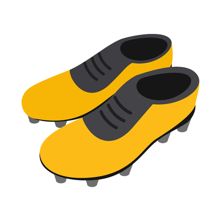soccer shoes: Football soccer shoes isometric 3d icon on a white background Illustration