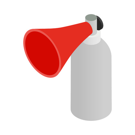 utterance: Portable plastic red megaphone isometric 3d icon on a white background Illustration
