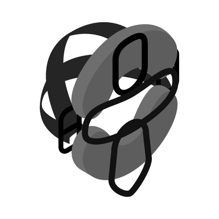protective mask: Protective mask for baseball isometric 3d icon on a white background