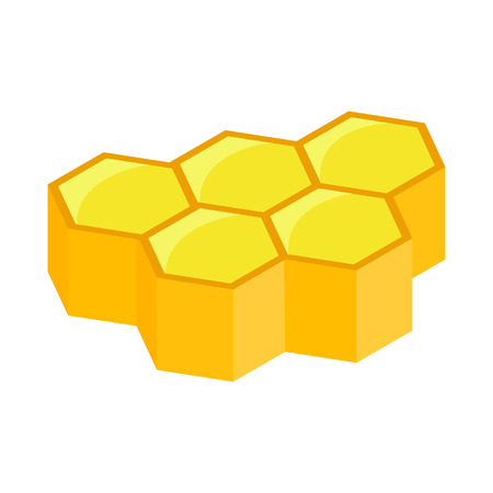honeycomb: Honeycomb isometric 3d icon on a white background
