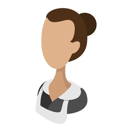 housemaid: Housemaid cartoon icon.