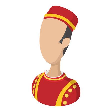 bellboy: Bellboy cartoon icon. Stock Photo