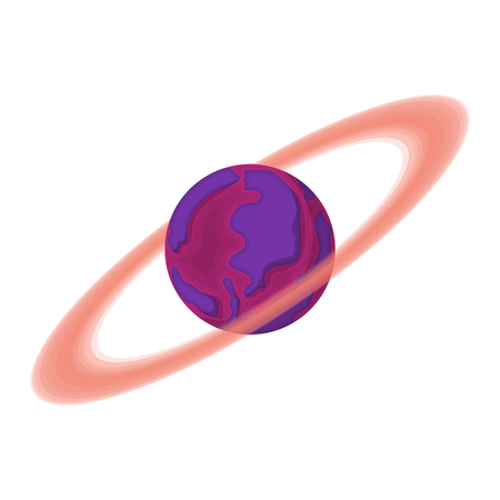 and saturn: Saturn cartoon icon on a white background Illustration