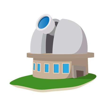 Observatoire icône de bande dessinée de la station sur un fond blanc Vecteurs