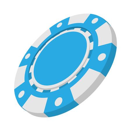 fichas de casino: Casino icono azul de dibujos animados s�mbolo sobre un fondo blanco
