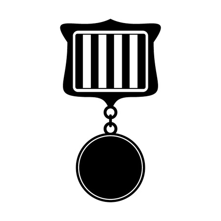 medal: Medal black simple icon isolated on white background