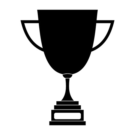 Goblet black simple icon isolated on white background
