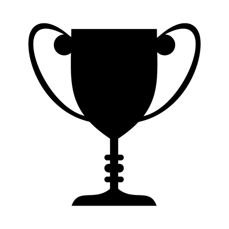 trofeo: El cáliz negro simple icono aislado en el fondo blanco
