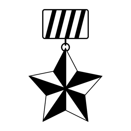 accomplishments: Medal black simple icon isolated on white background