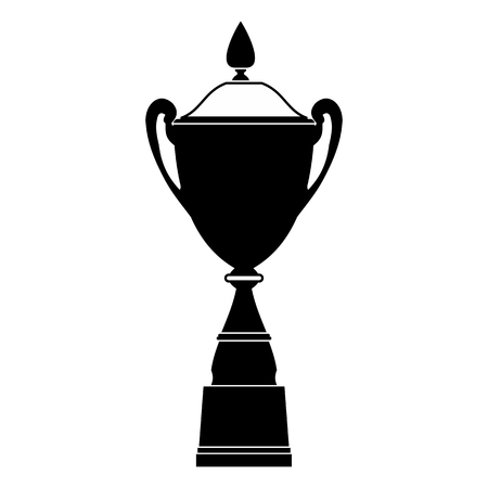 goblet: Goblet black simple icon isolated on white background