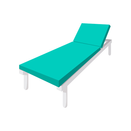 hospital interior: Hospital bed cartoon icon on a white background Illustration