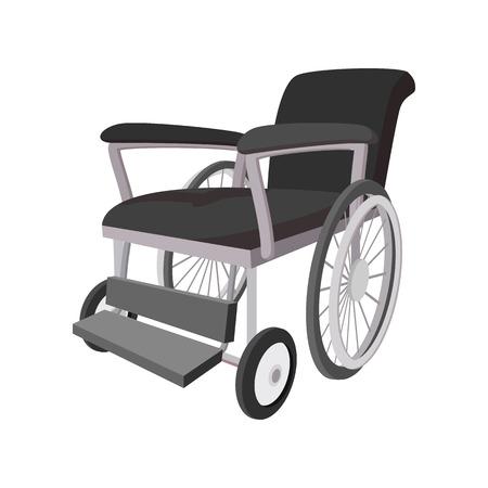 discapacidad: icono de la silla de ruedas de dibujos animados sobre un fondo blanco Vectores