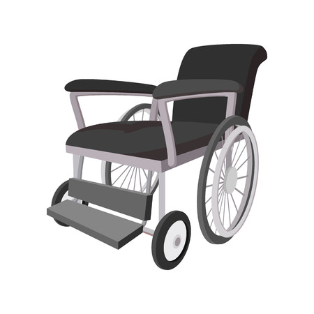 disability: Wheelchair cartoon icon on a white background Illustration