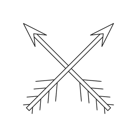 arow: Cross arrows thin line icon on a white background