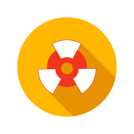 isotope: Nuclear power flat icon on a white background Illustration