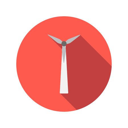 windfarm: Windmill for electric power production flat icon on a white background Illustration