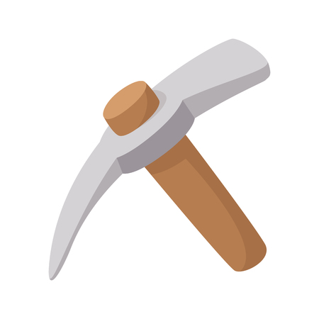 pickaxe: Pickaxe cartoon icon isolated on a white background