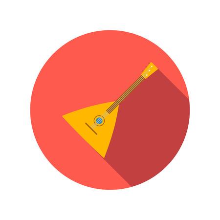 balalaika: Balalaika flat icon on a white background. Folk musical Instrument