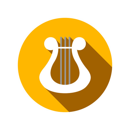 conservatory: Lyre flat icon on a white background