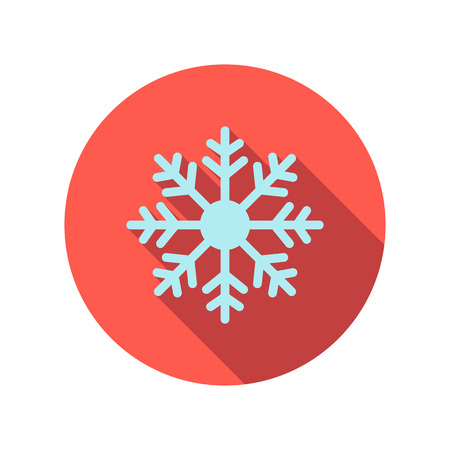 lightweight ornaments: Snowflake flat icon on a white background