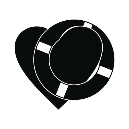 lifeline: Heart with lifeline black simple icon for web and mobile devices