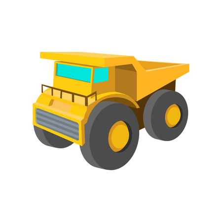 big truck: Big truck cartoon icon isolated on a white background