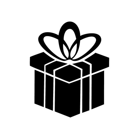 donative: Gift box simple icon isolated on a white background Illustration