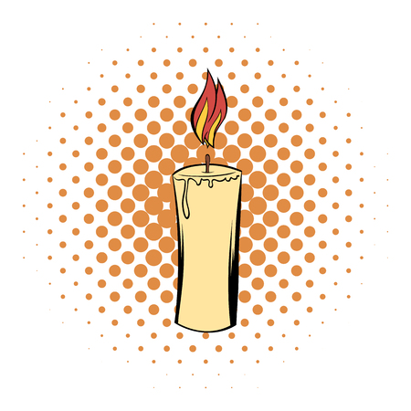 suppository: Candle comics icon on the white background